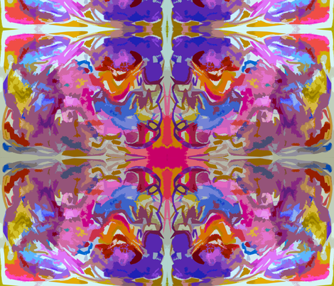 Tribal Dream, Colorful painted abstract