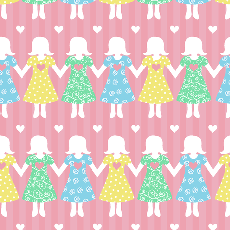 My Sisters' Hands fabric by holladaydesigns on Spoonflower - custom fabric