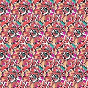 Rose and teal floral 3