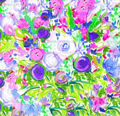 Springtime Monet Floral Painting Print