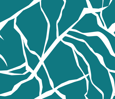 Crackle Teal fabric by mag-o on Spoonflower - custom fabric