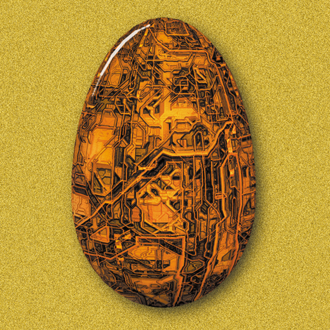 Steampunk Easter Eggs fabric by animotaxis on Spoonflower - custom fabric