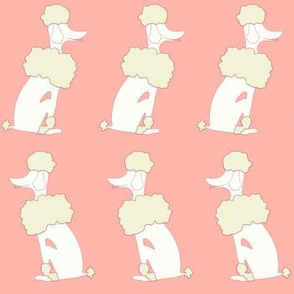 Oodles of Poodles in Coral