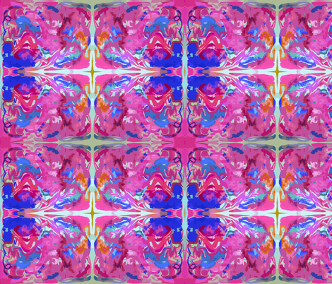 Bright Abstract in Hot pink and Blue fabric by theartwerks on Spoonflower - custom fabric