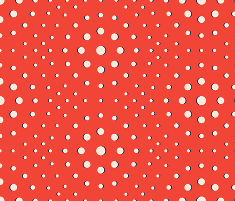 OPTICAL IN CIRCA RED fabric by open-shop on Spoonflower - custom fabric