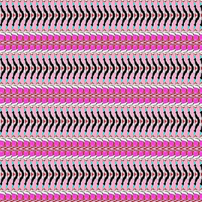pink fish scale stripes