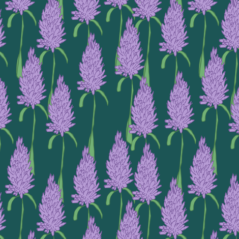 Field of Lavender fabric by pond_ripple on Spoonflower - custom fabric