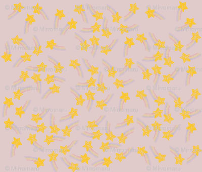 Rainbow Crayon Stars on Pastel Pink