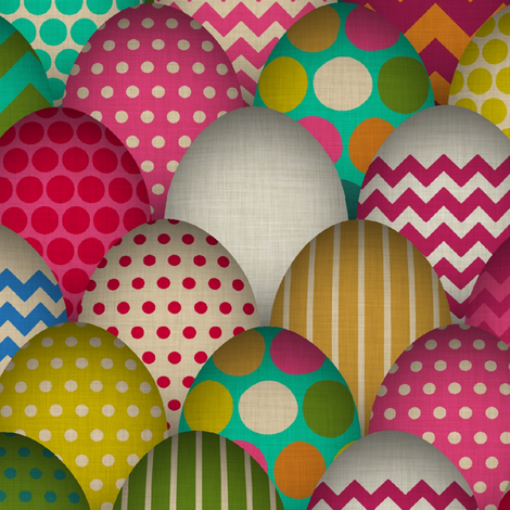 carnival de egg (large scale) fabric by scrummy on Spoonflower - custom fabric