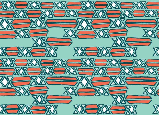 Diamond Mosaic Sketch fabric by lovesunnylauren on Spoonflower - custom fabric