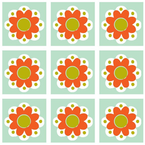 flowertile orange