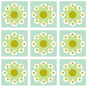 flowertile green
