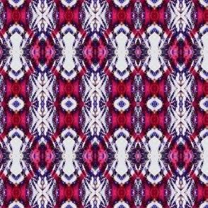 Red blue criss cross