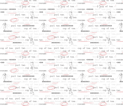 KnitOne Grey & Red fabric by auntycookie on Spoonflower - custom fabric