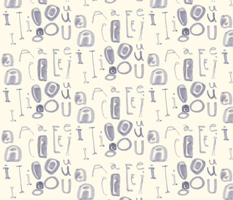 vowels fabric by toknight on Spoonflower - custom fabric