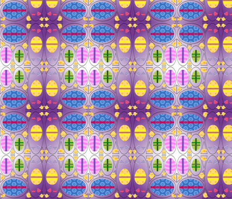 Easter Eggs fabric by ravynscache on Spoonflower - custom fabric