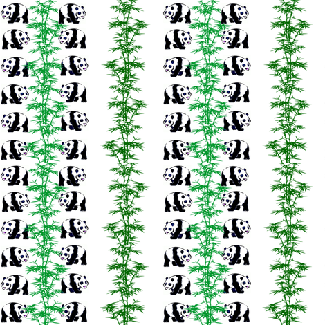 Panda Feast fabric by ravynscache on Spoonflower - custom fabric