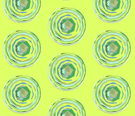 Circle Pattern in Spring Green and Mint