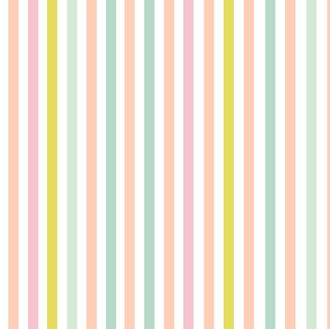 Spring Pastel Vertical Stripe fabric by theartwerks on Spoonflower - custom fabric