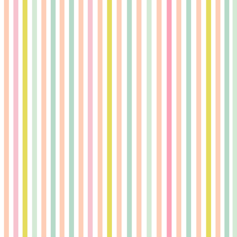Perfectly Pinstripe in 'Pastel Dream' fabric by theartwerks on Spoonflower - custom fabric