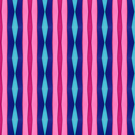 Stripes in Hot Pink and Blue fabric by theartwerks on Spoonflower - custom fabric