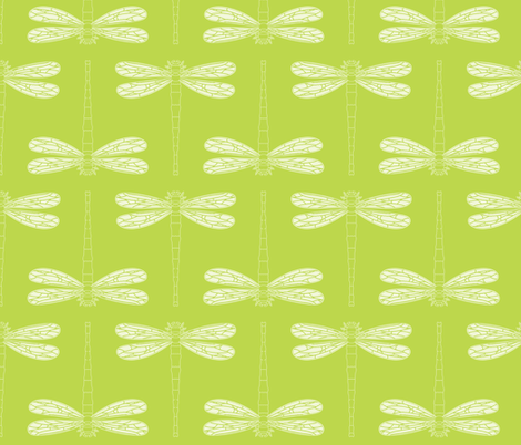 dragonfly in tender shoots fabric by chantae on Spoonflower - custom fabric