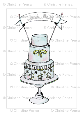 Wedding Cake Fabric