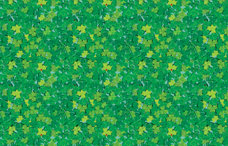 Lucky's Clover Over and Over fabric by papermoonpatterns on Spoonflower - custom fabric