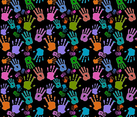 Helping Hands fabric by whimzwhirled on Spoonflower - custom fabric