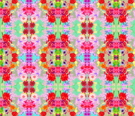 Colorful Burst Abstract Floral  fabric by theartwerks on Spoonflower - custom fabric