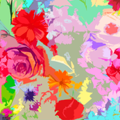 Colorful Burst Abstract Floral