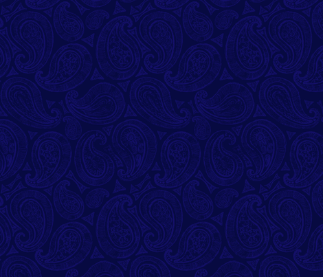 Blue Paisley fabric by european-skies on Spoonflower - custom fabric