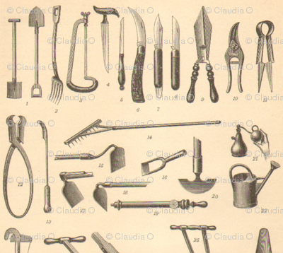 Antique Garden Tools