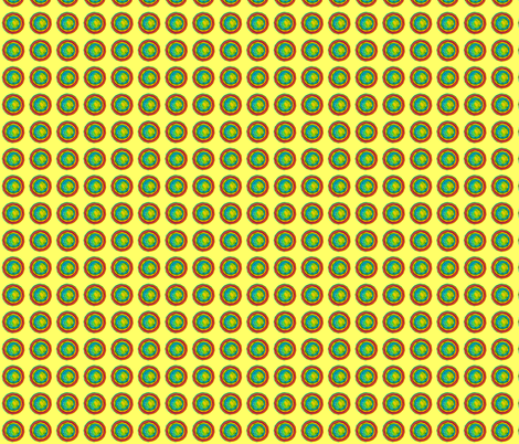 Teeny Tiny Rainbow Circle Pattern on Yellow Background fabric by theartwerks on Spoonflower - custom fabric