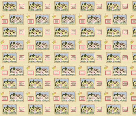 home sweet home fabric by krs_expressions on Spoonflower - custom fabric