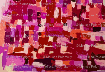 Painted Pattern in Red, Pink, Magenta, Violet, Coral and Tan