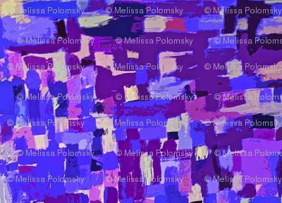 Painted Pattern in Blue, Violet, Lavender, Periwinkle
