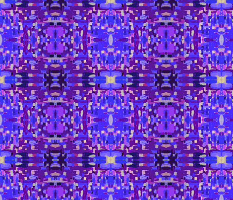 Painted Pattern in Blue, Violet, Lavender, Periwinkle fabric by theartwerks on Spoonflower - custom fabric