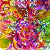 Small Print- Rainy Day Watercolor Floral Abstract Print