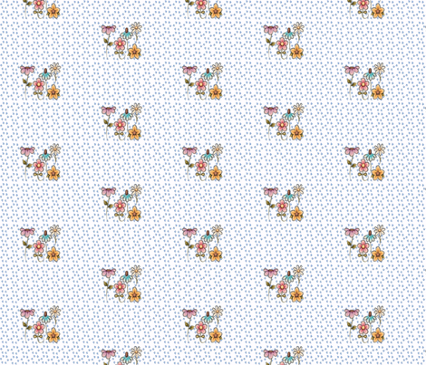 country flowers fabric by krs_expressions on Spoonflower - custom fabric