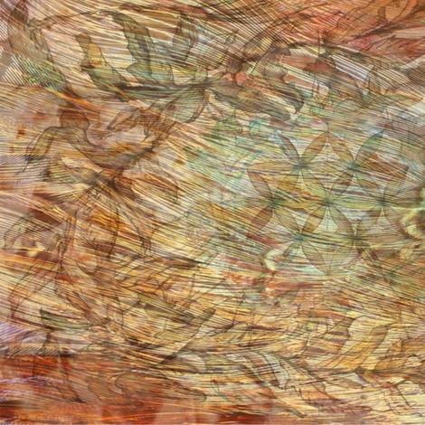 Pheasant Flow fabric by highonsunshinevibes on Spoonflower - custom fabric