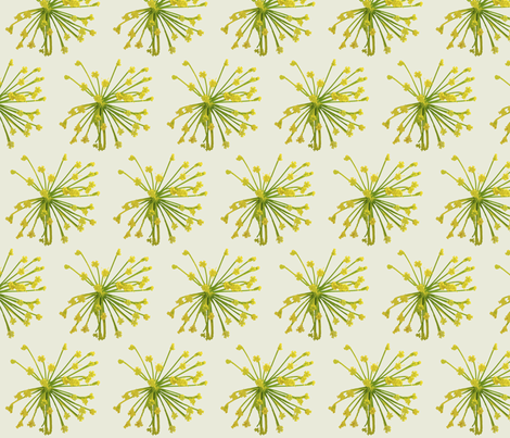 Large Print- Dilly Dalley Springtime Garden Print fabric by theartwerks on Spoonflower - custom fabric