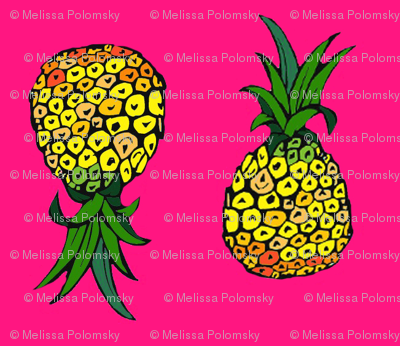 Teeny Pineapple Party on Pink