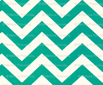 Chevron Diamond Pattern in Teal