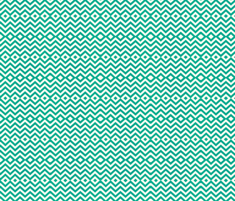 Chevron Diamond Pattern in Teal fabric by theartwerks on Spoonflower - custom fabric
