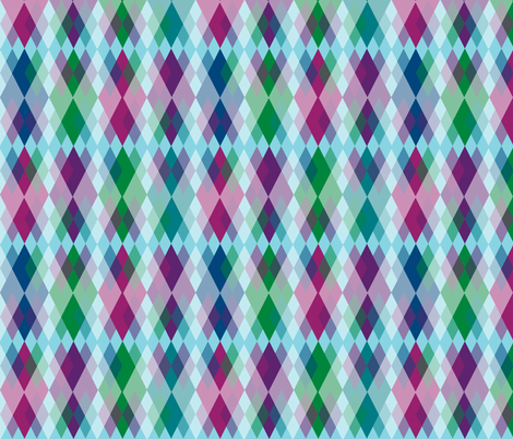 Blue Skies Argyle fabric by fentonslee on Spoonflower - custom fabric