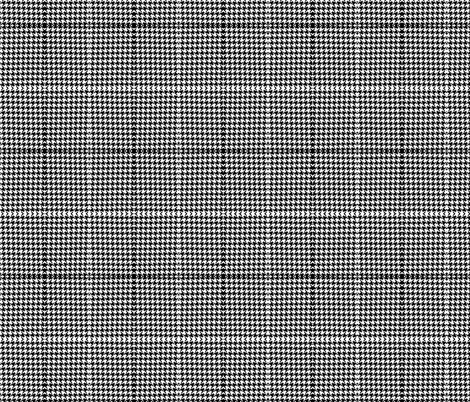 Houndstooth Pattern Black // White fabric by theartwerks on Spoonflower - custom fabric