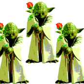 Wise it is to take flowers from Yoda