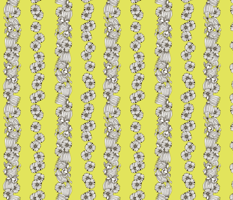 Strong Smart Beautiful ME yellow stripe fabric by gitchyville_stitches on Spoonflower - custom fabric