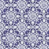 Bombay Blue and White - Two Tone